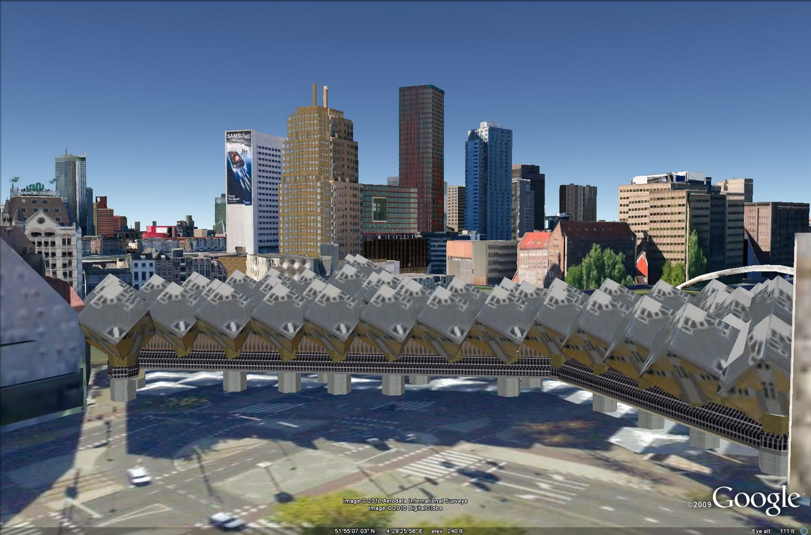 Sketchup Nederlands Rotterdam Now In 3d In Google Earth Softpedia