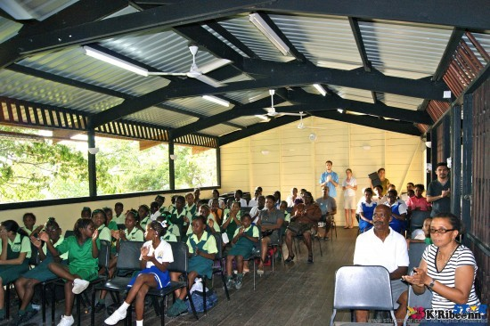 Martinique's Eric Ildefonse headed a music workshop at the St Lucia School of Music.