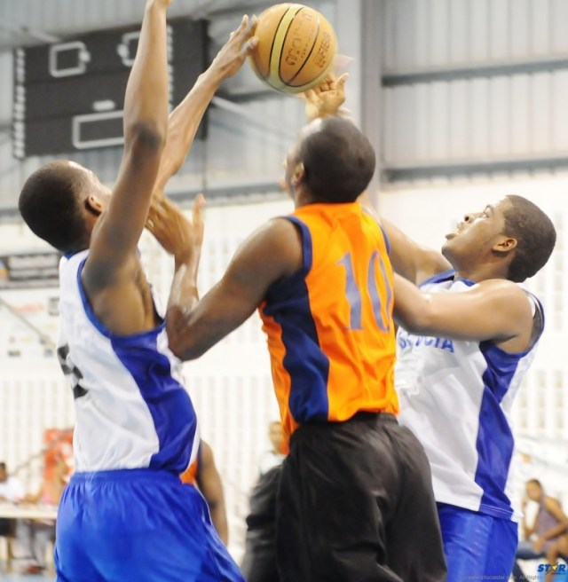 Action from Sunday's semi-final between ISE and Combined Schools.
