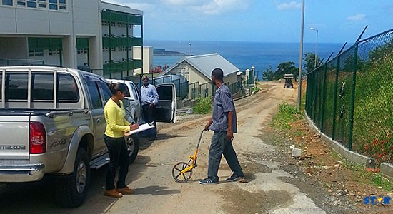 Infrastructure engineers begin assessments on hospital complex roadway.