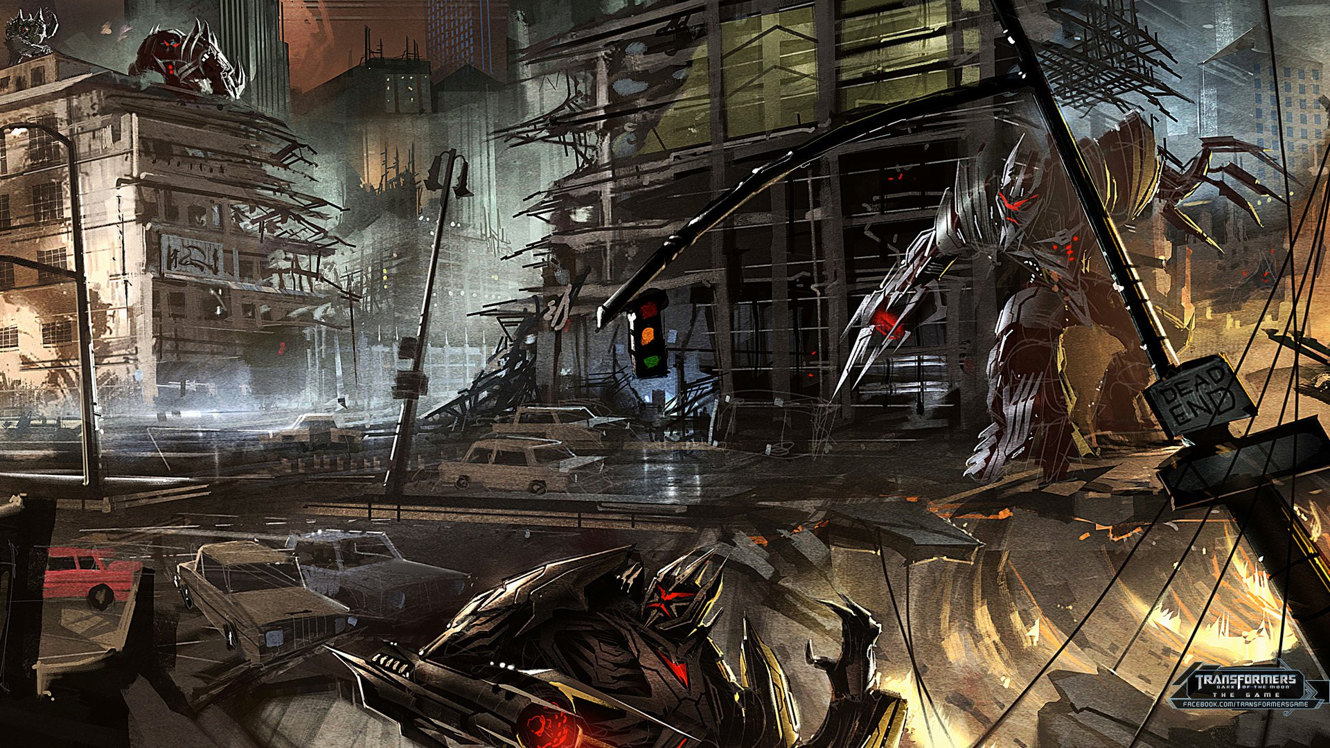 Transformers Fall Of Cybertron Wallpaper Transformers Dark Of The Moon Video Game Concept Art