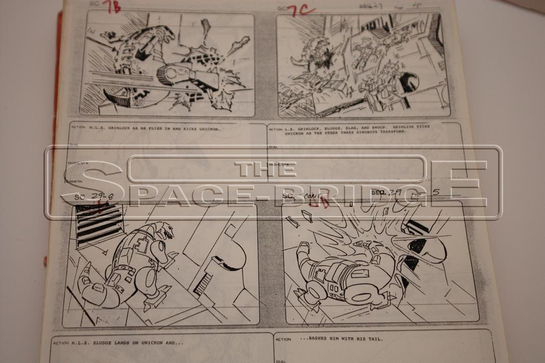 Transformers The Movie 1986 Original Production Storyboards Auction