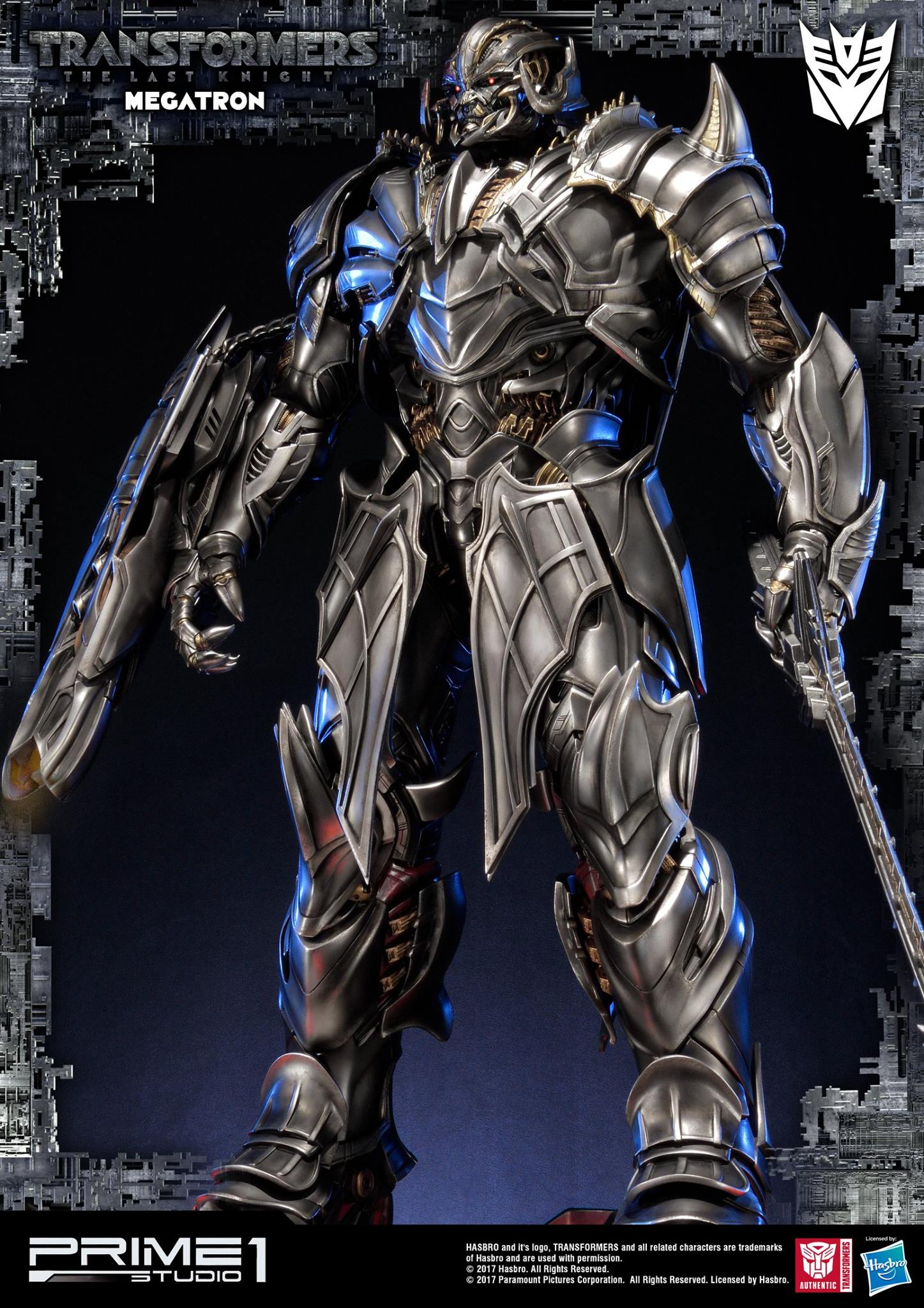 How To Set Animated Wallpaper Prime 1 Studios The Last Knight Megatron Statue