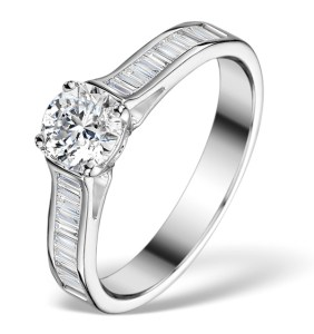 Coco Sidestone Ring 0.80ct Diamonds