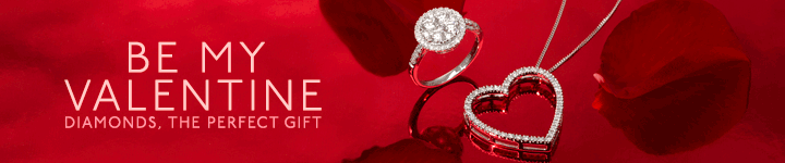 Valentines Day gift diamond jewellery at The Diamond Store UK