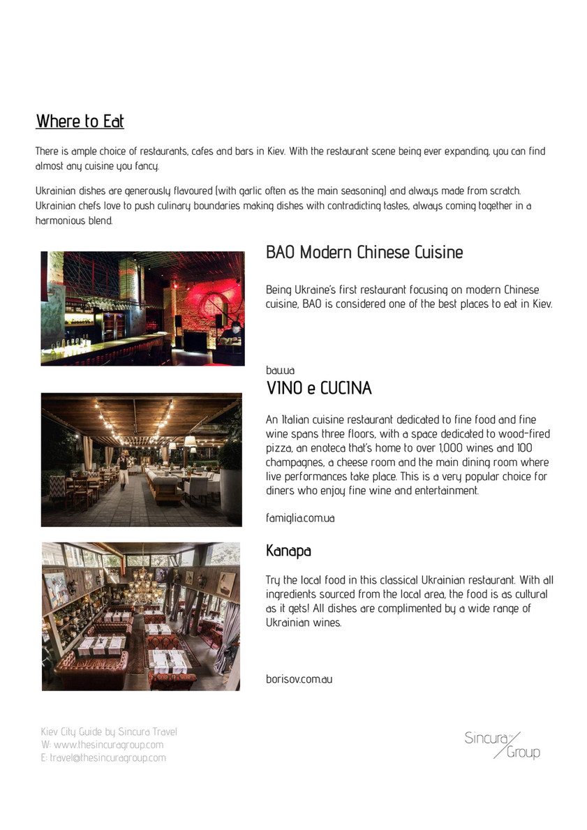 The Sincura Group Kiev City Guide Page 10 11