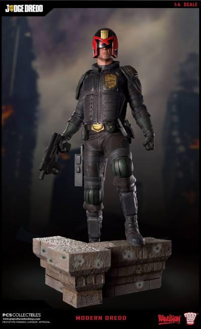 Pop Culture Shock - Dredd Movie Statues - The Toyark - News
