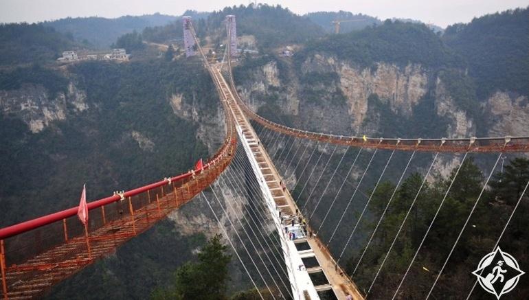 جسر تشانغجياجيه الزجاجى