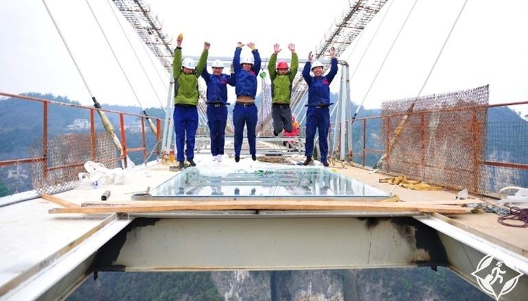 جسر تشانغجياجيه الزجاجى2