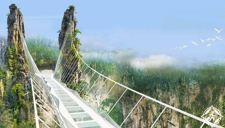 جسر تشانغجياجيه الزجاجى5