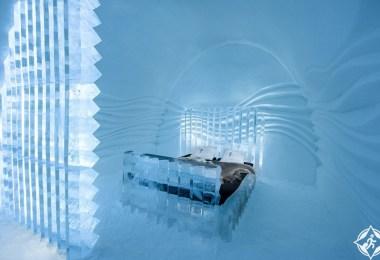 فندق الجليد بالسويد