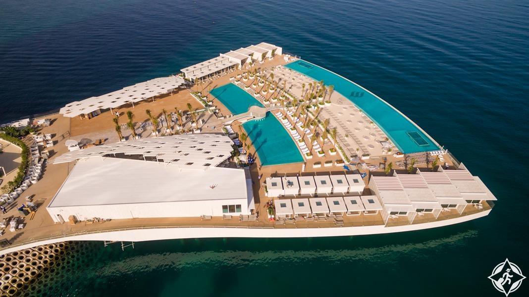 تدشين الجزيرة الاصطناعية تيراس برج العرب في دبي