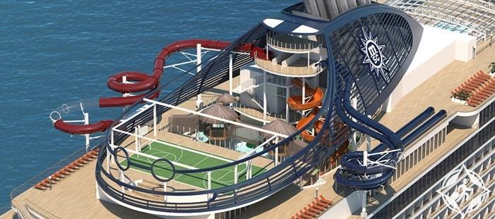 بالصور.. سفينة سياحية فاخرة تحمل حديقة ترفيهية في الهواء الطلق