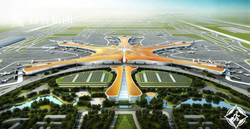 الصين تفتتح أكبر مطار في العالم على شكل نجم البحر في 2019