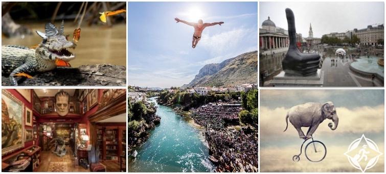 صور الأسبوع: تمساح مبتسم تطير حوله الفراشات وغواص يقفز من أعلى الجسر