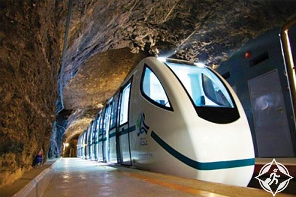 قطار كهف الهوتة في عمان
