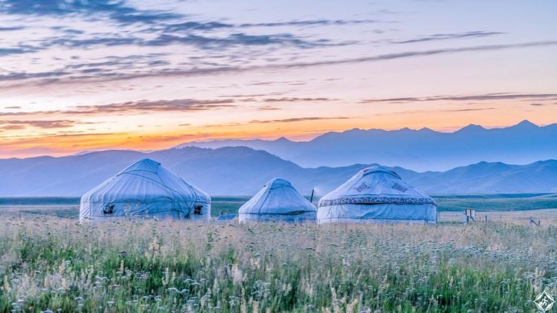 Mongolian yurts
