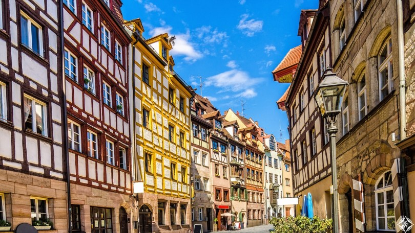 Half timbered Houses in Nuremberg´s Weissgerbergasse