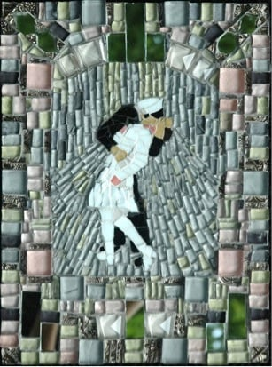 Mosaic by artist Ingrid Pisano.