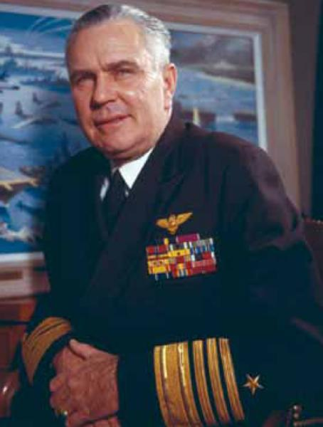 Chief of Naval Operations Admiral George Anderson was responsible for planning the naval quarantine of Cuba as well as preparing for a possible invasion of the country. Later Anderson clashed with Secretary of Defense Robert McNamara over the blockade's enforcement. Naval Institute Photo Archive