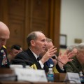 Adm. Jonathan Greenert with fellow service chiefs addressing Congress in an undated photo. US Navy Photo