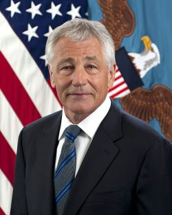 "Official portrait of Secretary of Defense Charles Timothy ""Chuck"" Hagel. US Navy Photo"