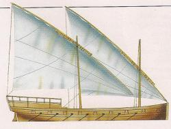 Lateen-rig galley USS Washington 1776