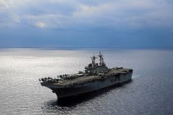 USS Kearsarge (LHD-3) in February. US Navy Photo