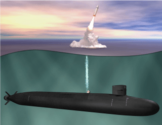 Artists concept of the Ohio Replacement ballistic nuclear missile submarine. US Navy Photo