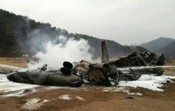USMC CH-53E following a Tuesday crash 55 miles from Seoul. Reuters Photo