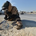 A Navy explosive ordnance disposal sailor disables an explosive device during a Nov. 12, 2012 exercise in US Central Command, US Navy Photo