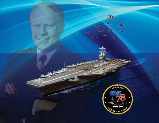 Artists concept of USS Gerald R. Ford (CVN-78). Northrop Grumman Photo