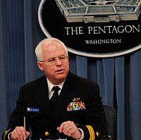 Rear Adm. Joseph Mulloy discusses the Navy portion of the Department of Defense fiscal year 2011 budget. US Navy Photo