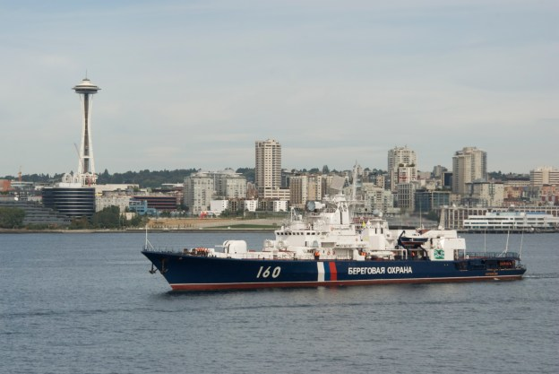 Russian Border Guard vessel Vorovsky during a visit to Seattle, Wash. in 2009. US Coast Guard Photo