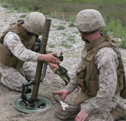 Marines train with M224A1 60mm mortar system in 2012.