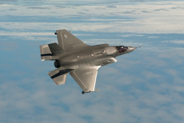 The U.S. Marine Corps version of the F-35 Lighting II Joint Strike Fighter. A Pentagon report alleges F-35 designs were among those stolen by China in a cyber espionage scheme. US Navy Photo