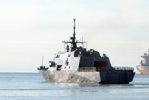 USS Freedom (LCS 1) gets underway.   Freedom is underway as part of the Republic of Singapore Navy's Western Pacific Multi-lateral Sea Exercise (WMSX). US Navy Photo