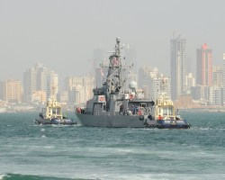 USS Tempest (PC 2) transits from Khalifa Bin Salman Port to Mina Salman Pier in Bahrain.
