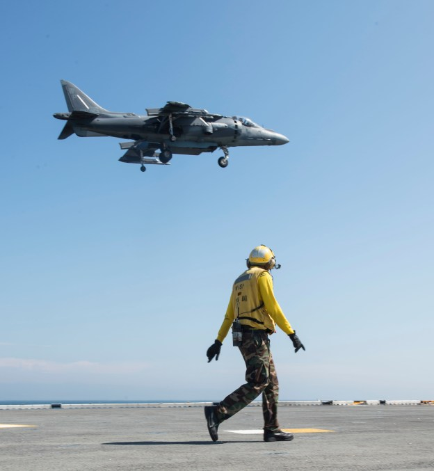 An AV-8B Harrier. US Navy Photo