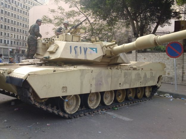 An Egyptian M1A1 Abrams tank in 2011. A suspension in military aid to Egypt could halt expansion of the inventory from 1,000 to 1,500.