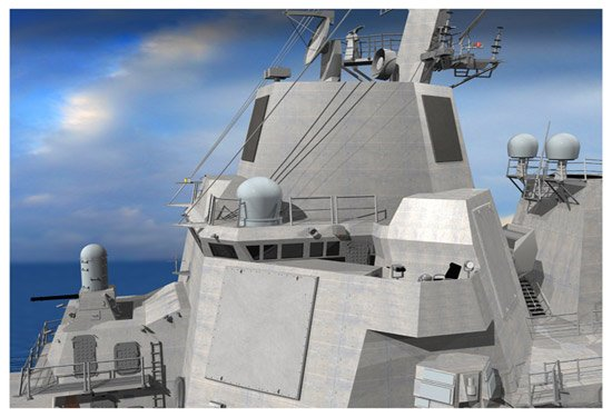 An artist's conception of the Air Missile Defense Radar (AMDR). Raytheon Photo