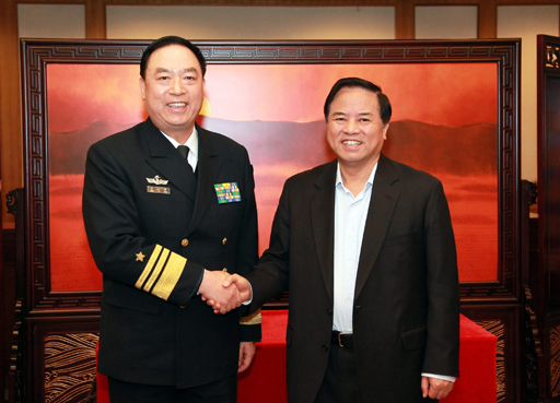 Vice Adm. Ding Yiping and Liu Cigui