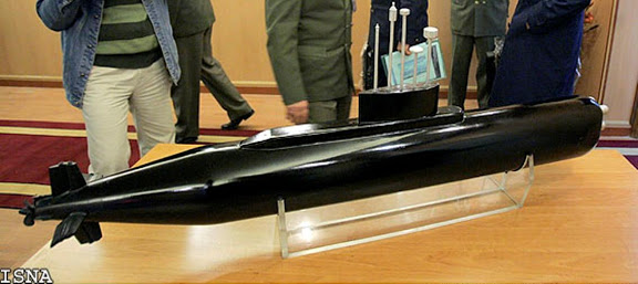 A model of the Iranian Fateh-class submarine.