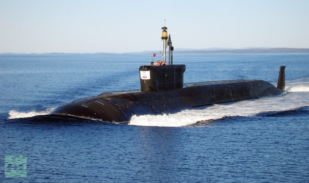 Russian Borey-class (Project 955) ballistic nuclear missile submarine Yuri Dolgoruky during sea trials. RIA Novosti Photo