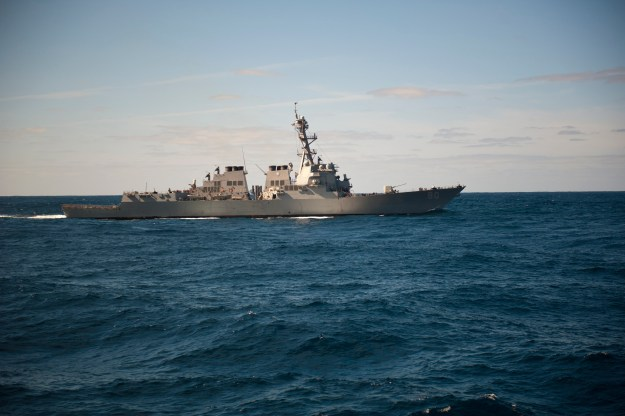 USS Roosevelt (DDG 80) is underway in the Atlantic Ocean on Feb. 23, 2014. US Navy Photo