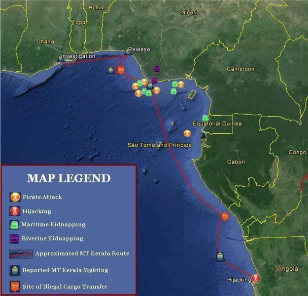 Data from Delex Maritime Analysis Center, OCEANUS Live, Nigerian Navy
