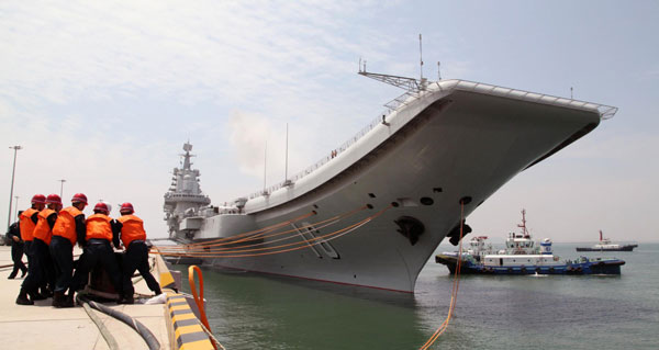 People's Liberation Army Navy carrier Liaoning.