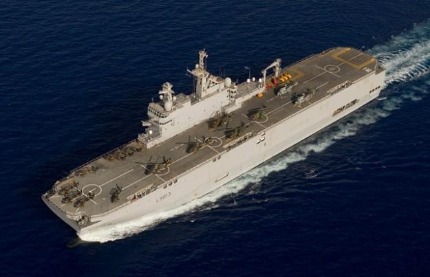 Mistral-class amphibious ship.