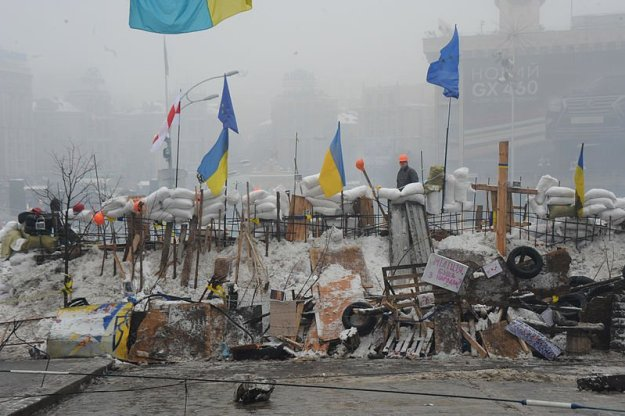 Protesters in Maidan Square. Kiev, Ukraine. Dec. 12, 2013.