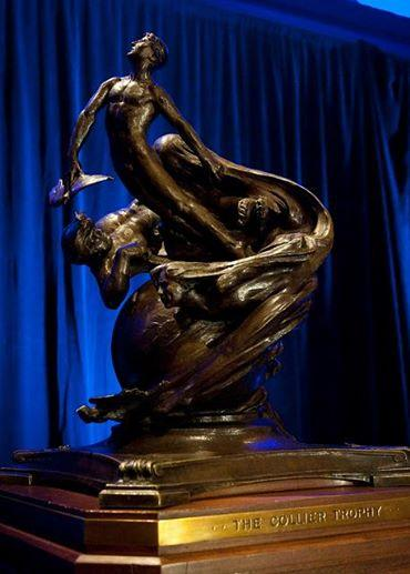 The Collier trophy, pictured, at the National Aeronautic Association's award
